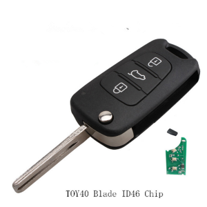 3 Buttons Remote Car key 434mhz Transponder Chip ID46  For Hyundai YF Sonata 2011 2012 2013 TOY40 Blade