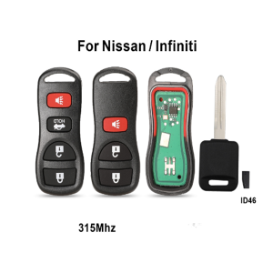 315Mhz 3/4 Buttons Car Remote Key For Infiniti/Nissan Frontier Murano Armada Pathfinder Versa Altima Maxima Xterra