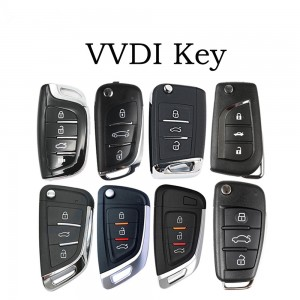 VVDI Key 3 Button Smart Car Key Card Handheld Universal Remote Wireless/Wire for VVDI MINI Key Tool Key Programmer