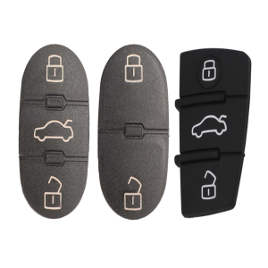 For Audi Key Button Pad 2/3 Button For Audi A3 A4 A5 A6 A8 Q5 Q7 T Remote Key Shell Fob Cover Case Pads Replacement