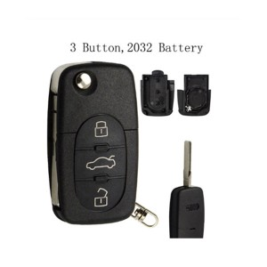 2/2+1/3/3+1 Buttons Folding Flip Key Shell Fit For Audi TT A2 A3 A4 A6 A8 Quattro Remote Key Case Cover With Blade CR2032
