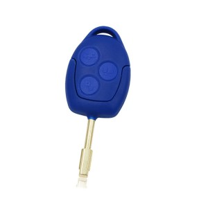 3 Button blue remote key Remote Car Key 434MHz 4D63 ID63 Chip For Ford Transit blue remote key (after market)