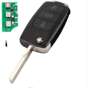 2/3 Button flip remote key ID48 chip 434mhz For VW 1K0 959 753 N/1J0 959 753 DJ/1J0 959 753 N/1J0 959 753 P/1J0 959 753 AM /1J0 959 753 DC /1J0 959 753 T/7M3959753F/1J0 959 753 AG/1J0 959 753 AH/1J...