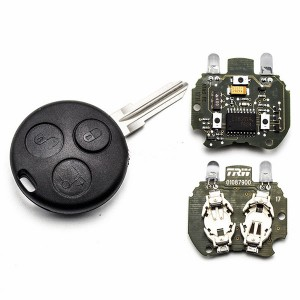 For Benz original 3 button remote key with infrared ray (with two infrared ray hole in the key shell)