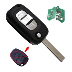 Renault Modified 3 button remote key with pcf7946/pcf7947chip