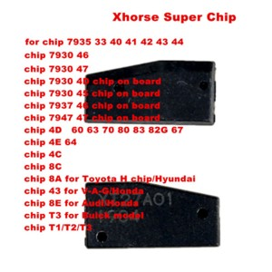 Xhorse VVDI Super Chip for ID46/40/43/4D/8C/8A/T3/47/41/42/45/ID46 for VVDI2 VVDI Key Tool and VVDI Mini Key Tool