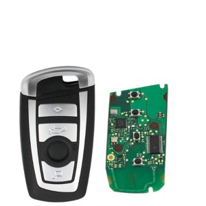 4 button Smart Remote Key KeylessGo 315/433/868Mhz pcf7953 chip for BMW CAS4 F Platform 5 7 Series with hu92 blade