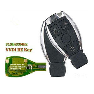 Xhorse VVDI BE Key Pro Improved Version 315MHz-433MHz Remote Key for Mercedes Benz,2 battery, be available for bga