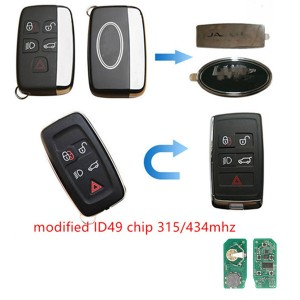 landrover 4+1 button remote with 315mhz 434MHZ with 49 chip