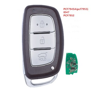 Smart Remote Key 3 Button 433Mhz PCF7945A(pcf7953)/ID47/PCF7952 for Hyundai Tucson IX35 2013-2016 P/N : 95440-2S600 / 95440-2S610