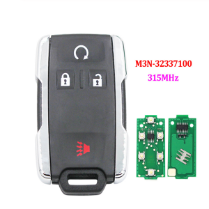 Entry Remote Control Key 3+1 Button 315MHz for Chevrolet GMC FCC: M3N32337100 M3N-32337100