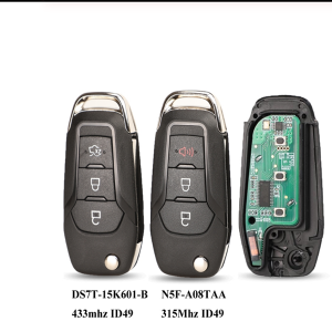 Flip Remote Key Fob 3 Buttons 315/433Mhz N5F-A08TAA ID49 For Ford S-MAX GALAXY MONDEO Mk2 Mk7 Explorer Ranger