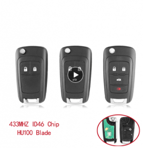 2/3/4 Buttons Flip Folding Remote Car Key Fob For Chevrolet Cruze Malibu Aveo Spark Sail orlando Key 433MHz ID46 Chip