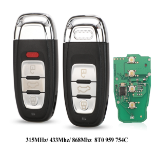 Smart Remote Key Keyless 3/4 Button 315MHz/433MHZ/868MHZ 8T0 959 754C for For Audi Q5 A4L A5 A6 A7 A8 RS4 RS5 S4 S5