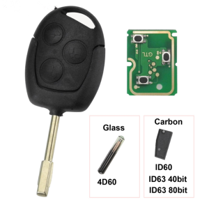 3 Buttons Remote Key Fob 315Mhz 433MHz 4D60 ID63 Chip For Ford Mondeo Focus Fusion Fiesta Galaxy Transit Full Car Key