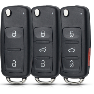 For VW Volkswagen Golf Mk6 Tiguan Polo Passat Skoda Octavia Replacement 2/3/4 Buttons Flip Car Remote Key Shell Fob Case