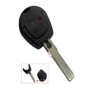 For VW 2 Button Uncut Blade Remote Key Shell for VW Polo Golf Jetta Sharan for Seat Ibiza Leon Toledo Altea for Skoda