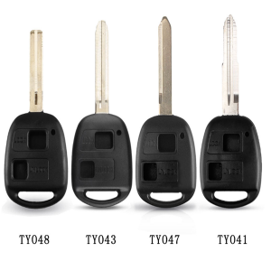 TOY41/TOY43/TOY47/TOY48 Remote 2 Buttons Key Fob Case for Toyota Camry Rav4 Corolla Prado Yaris Tarago No Logo