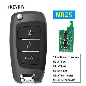 NB25 Multi-functional Universal Remote Control Car Key for KD900 KD900+ URG200 KD-X2 NB-Series Remote (All Functions Chips in)