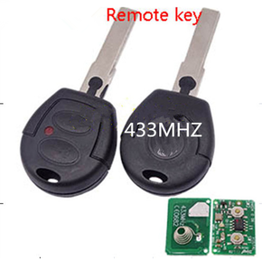 2 Buttons Remote 433mhz remote control FOR For VW GOLF SKODA Octavia KEY hu66 Uncut Blade