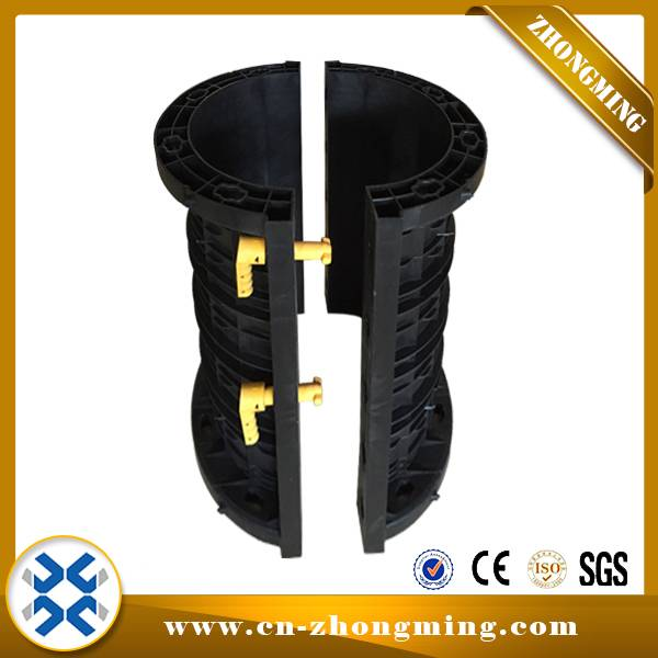 Best Price for Slab Formwork - Circular Elliptic Column Plastic formwork – Zhongming