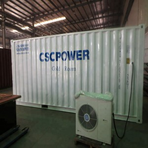 40hq 40 feet cold room container for meat chiller and freezer for sale