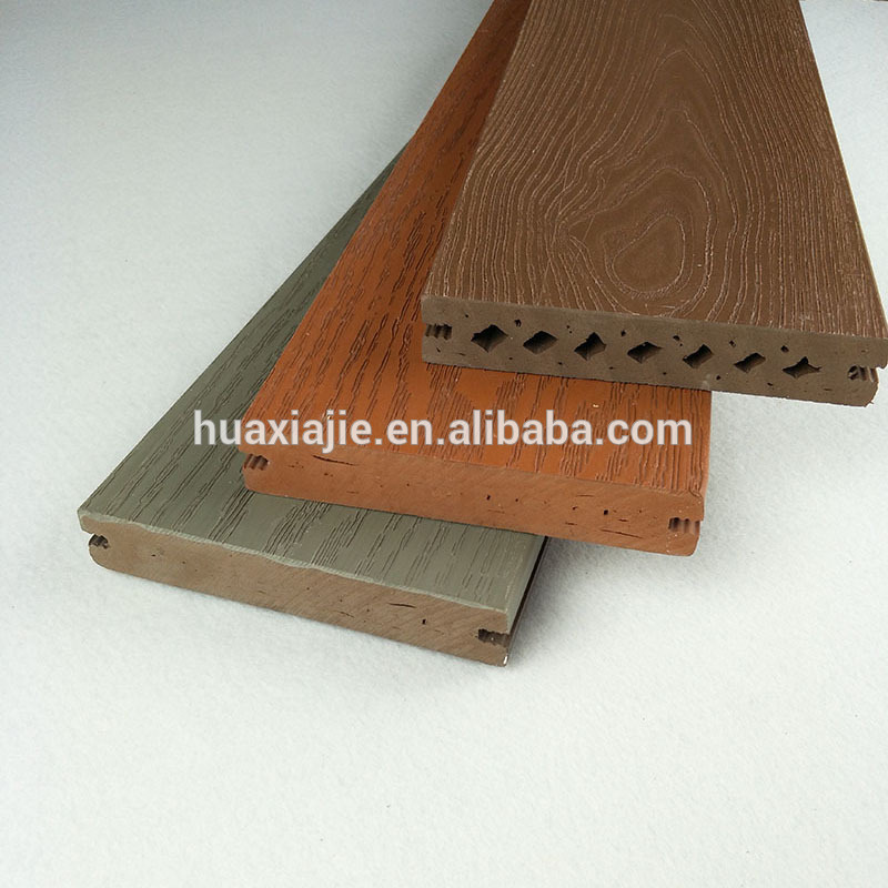 China wholesale outdoor engineered reinforced cellular pvc vinyl flooring deck type prices composite board wpc decking