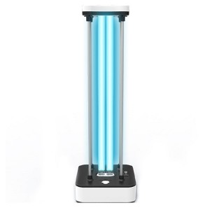 Portable germicidal ultraviolet light ozone sterilization lamp