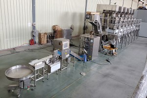 Sweet candy mixing counting packing machine
