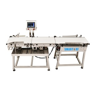 Online checkweigher for bags bottle box