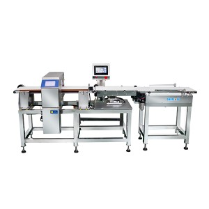 Metal detector checkweigher combination machine