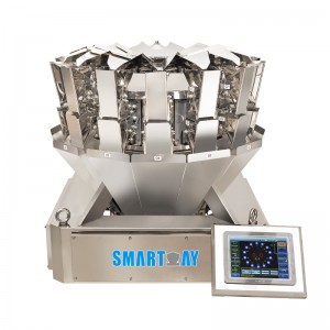 Mini high accuracy 14 head multihead weigher for tea seeds cannabis