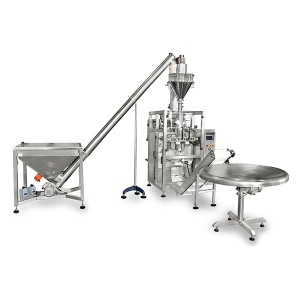 Rice flour milk powder spices vertical packing machine with auger filler