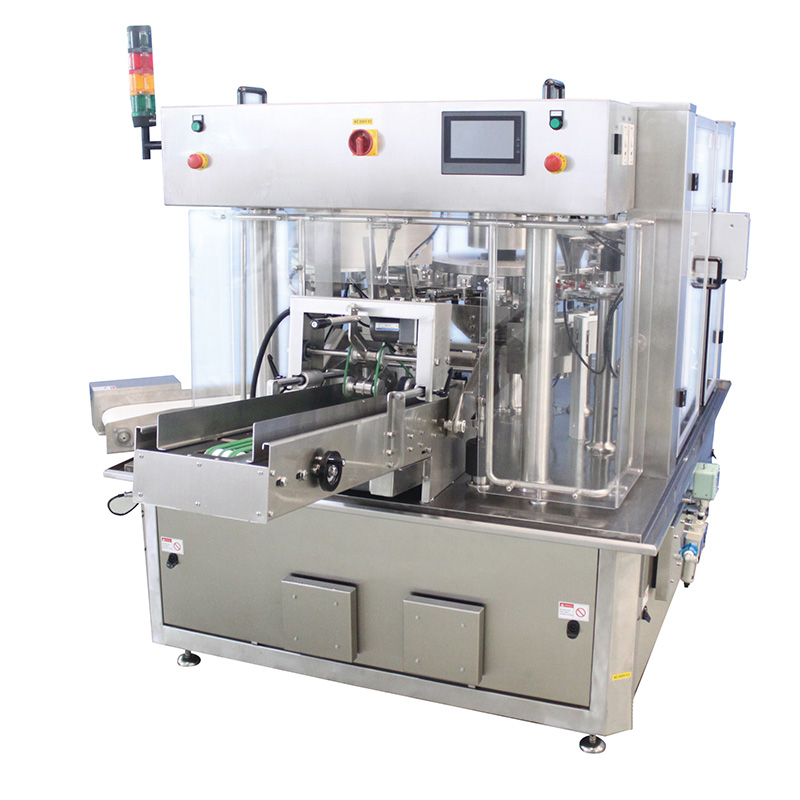 Rotary pouch packing machine 8 working station Featured Image