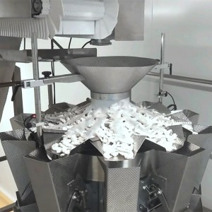 Frozen fresh seafood shrimp multihead weigher packing machine line