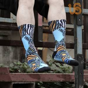 360 Degree Print Sock – Pure cotton fashion Mens Designer Socks
