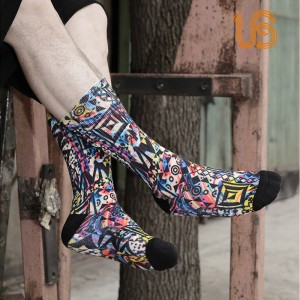 Terry Sublimation Sock/Manufactur Sublimation Socks For Men