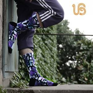 Fashion Sublimation Sport Sock, Breathable Socks Mens Supplier