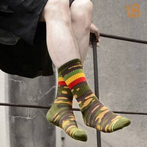 Camouflage Cotton Sock | Pure Cotton Fashion Camouflage Sock Professional Manufacture