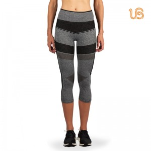 Women's Multi Colorcompression Mesh Capri Leggings