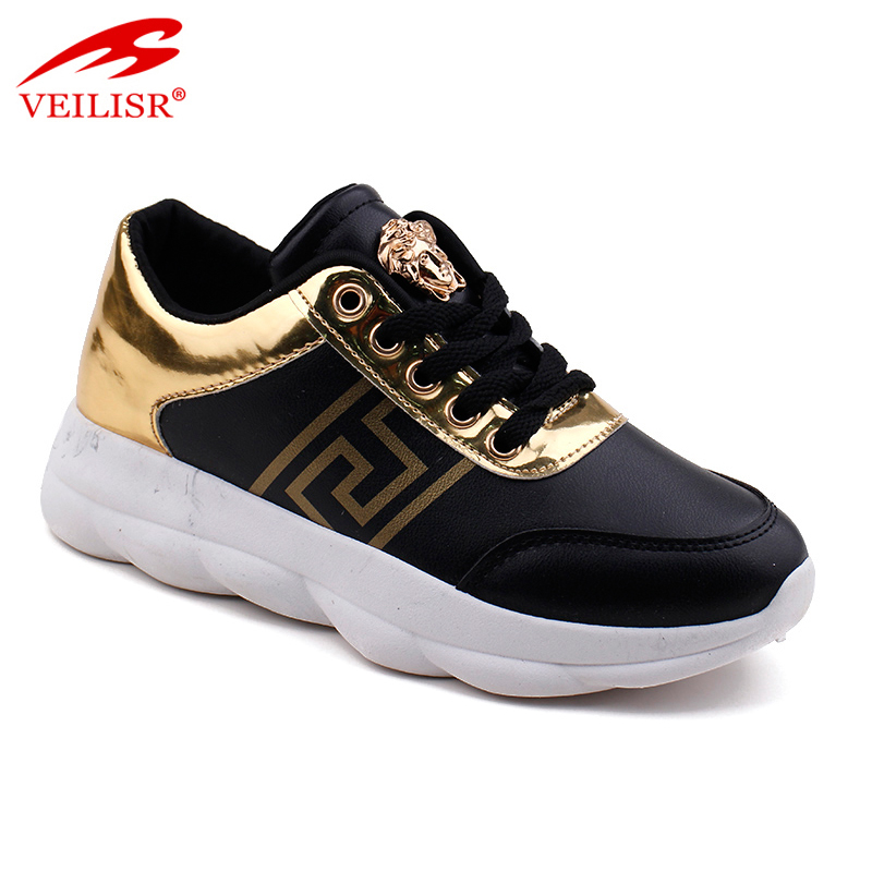 New outdoor PU upper ladies light sport shoes women sneakers