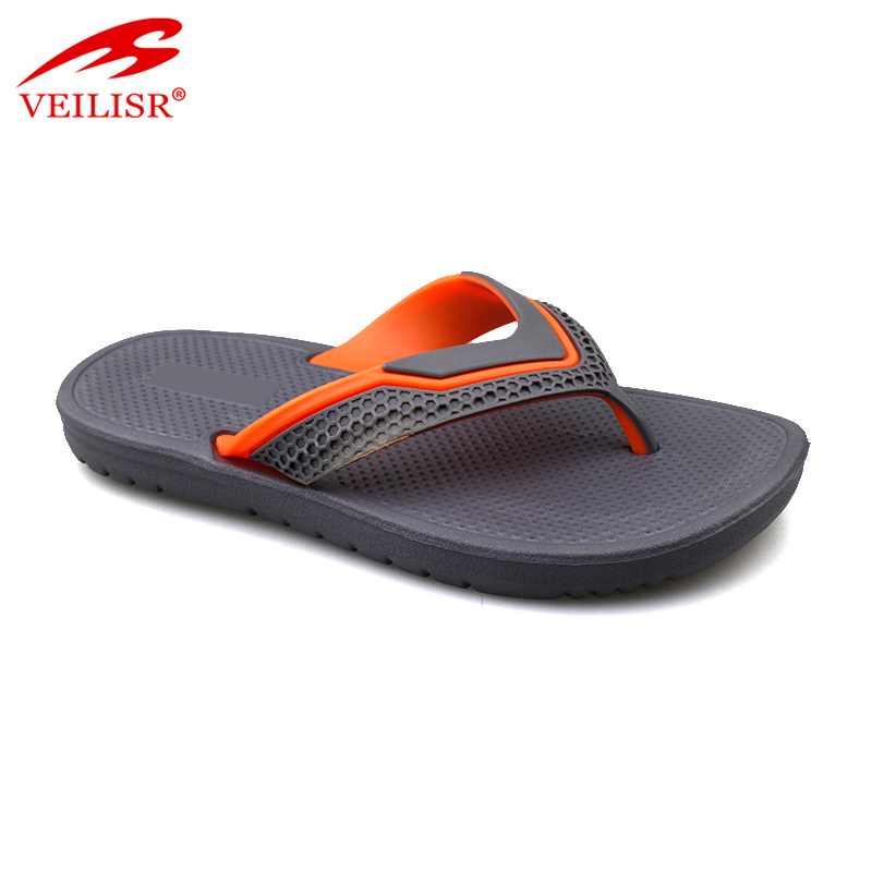 Outdoor summer beach walking PVC strap slippers men flip flops