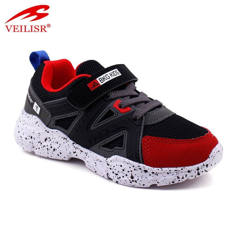 New design PU mesh children sneakers kids casual shoes