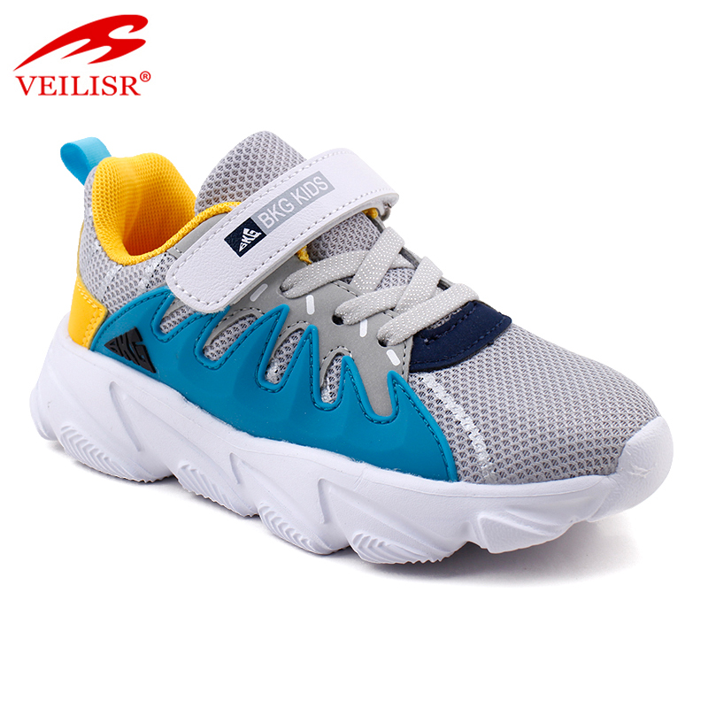 New design PU mesh children casual sneakers kids shoes