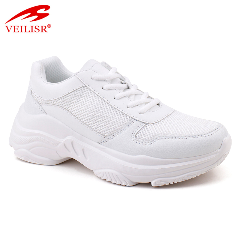 Nuevo Outdoor PU mesh upper ladies chunky walking shoes women sneakers