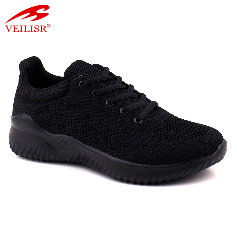 Wholesale China Factory low Price Outdoor summer knit fabric ladies sport shoes women sneakers