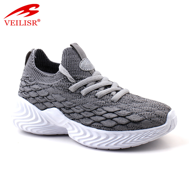 Outdoor knit fabric upper children sneakers kids casual shoes