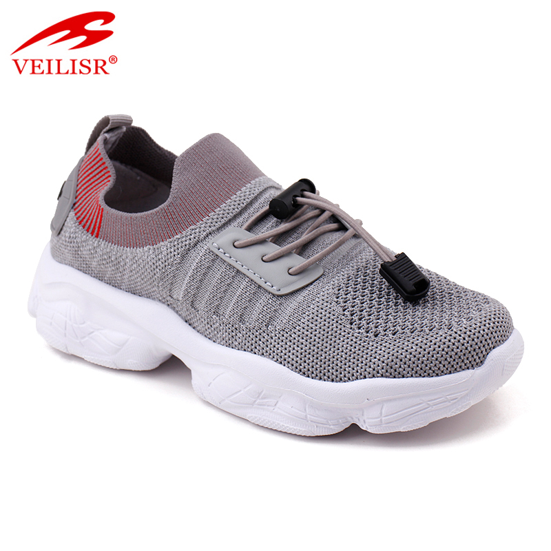 Nuevo New design knit fabric upper children shoe kids casual shoes