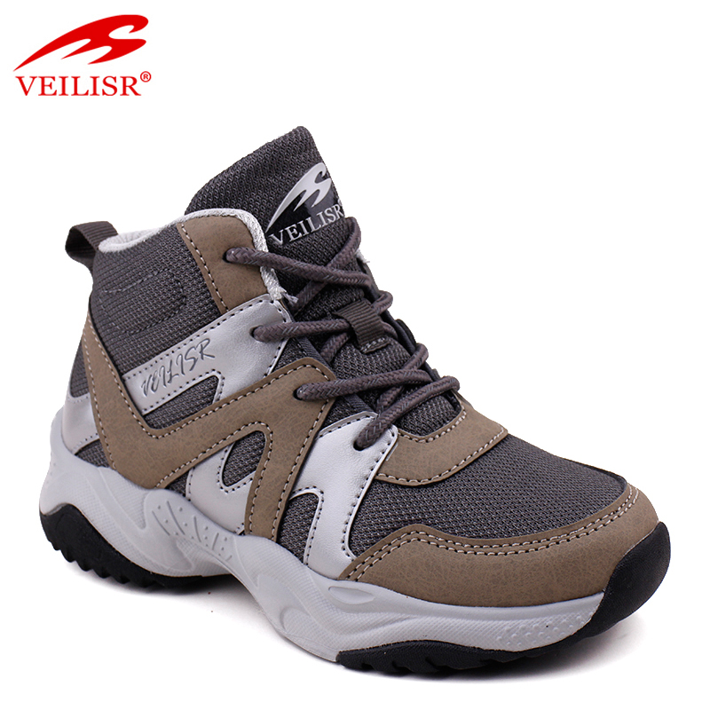 Outdoor PU mesh children trekking shoes  kids hiking boots