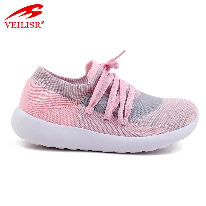 knit fabric ladies light sport shoes women sneakers